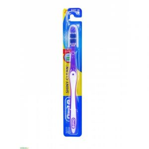 Oral-B Toothbrush Shiny Clean Μαλακή Μωβ-Άσπρο (3014260786847)